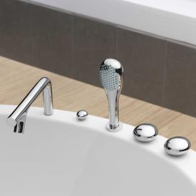 VitrA Istanbul deck-mounted, two handle bath filler and shower mixer