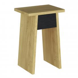 VitrA Memoria Elements side table with drawer oak/matt black