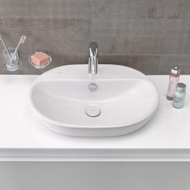 VitrA Metropole countertop washbasin, oval with VitrAclean