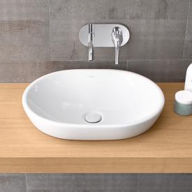 VitrA Metropole countertop washbasin, oval white, with VitrAclean