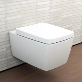 VitrA Metropole wall-mounted, washdown toilet rimless, white, with VitrAclean