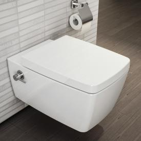 VitrA Metropole wall-mounted, washdown toilet VitrAflush 2.0 with bidet function white, with VitrAclean, with integrated fitting
