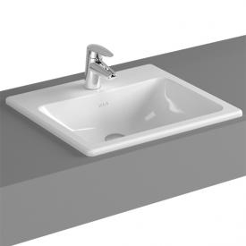 VitrA S20 drop-in washbasin, with 1 tap hole