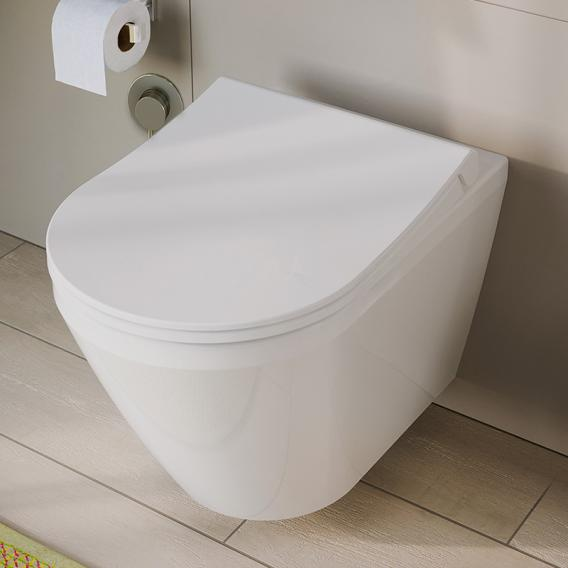 VitrA Aquacare Integra wall-mounted washdown toilet set with bidet function, with toilet seat