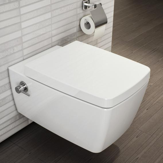 VitrA Metropole wall-mounted, washdown toilet with bidet function rimless, white, with VitrAclean, with integrated fitting