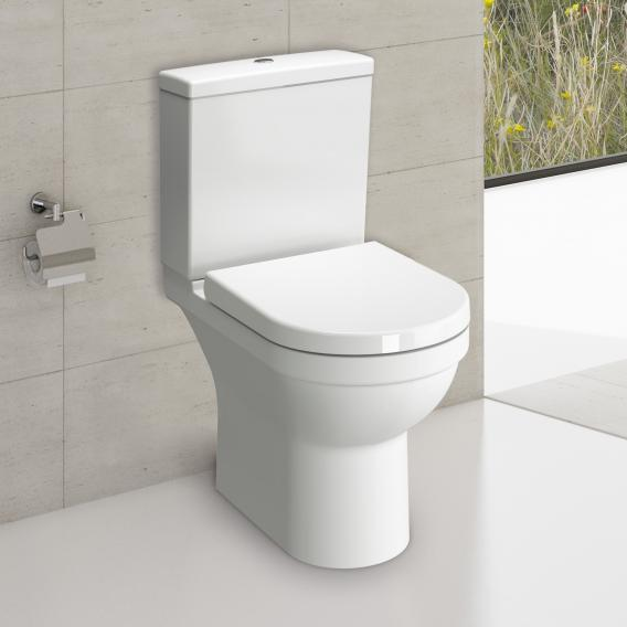 VitrA S50 floorstanding toilet VitrAflush 2.0, open back rimless