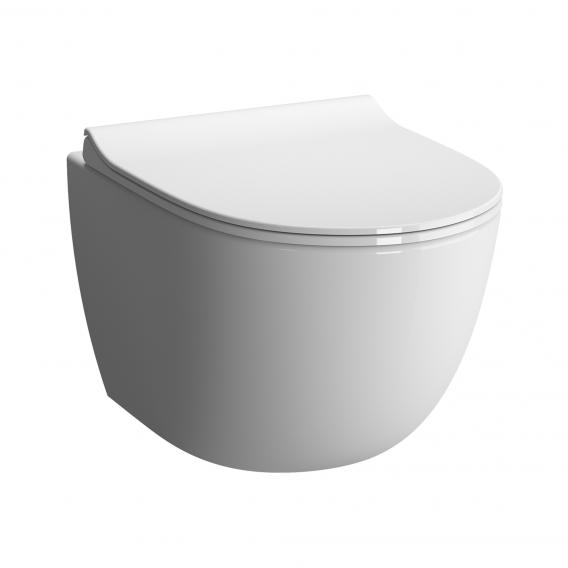 VitrA Sento wall-mounted, washdown toilet Compact with bidet function with flushing rim, white, with VitrAclean