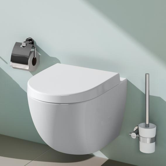 VitrA Sento wall-mounted, washdown toilet with flushing rim, white, with VitrAclean