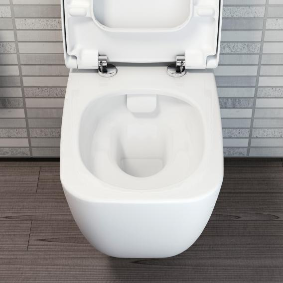 VitrA Shift wall-mounted washdown toilet rimless, white, with VitrAclean