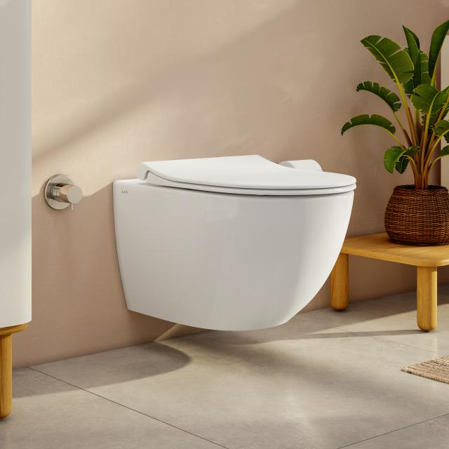 VitrA Aquacare Sento wall-mounted washdown toilet set with bidet function, with toilet seat without integrated fitting