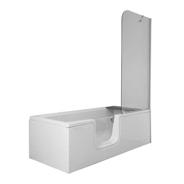 VitrA Conforma Combo rectangular bath with shower zone, built-in