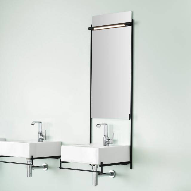 VitrA Equal mirror with LED lighting and metal frame
