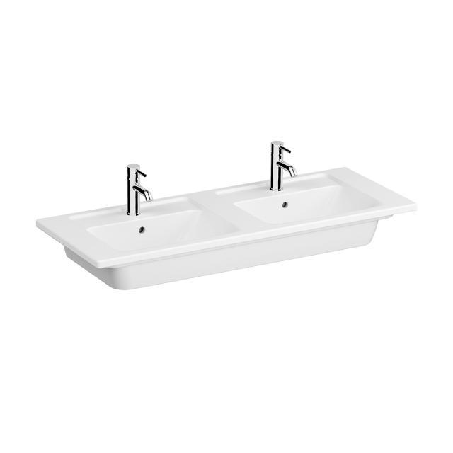 VitrA Integra double washbasin white, with 2 tap holes