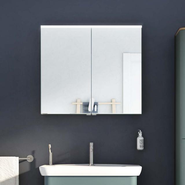 VitrA Integra/Sento Premium mirror cabinet with LED lighting matt fjord green