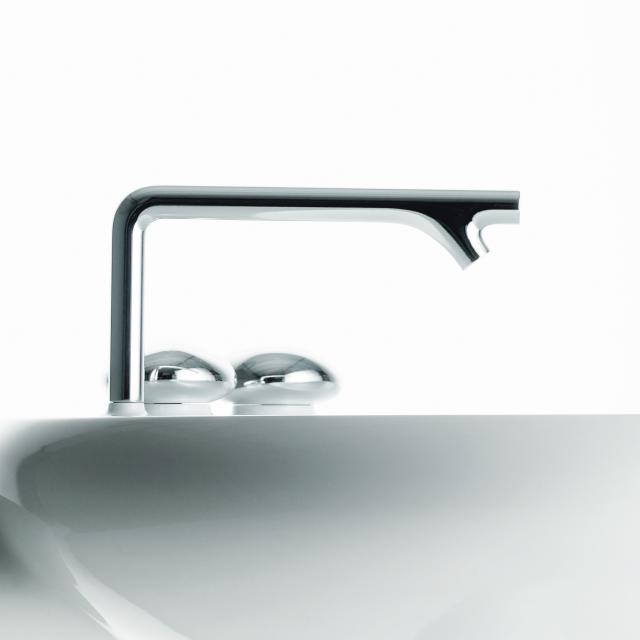 VitrA Istanbul two handle basin mixer, three hole installation without waste set