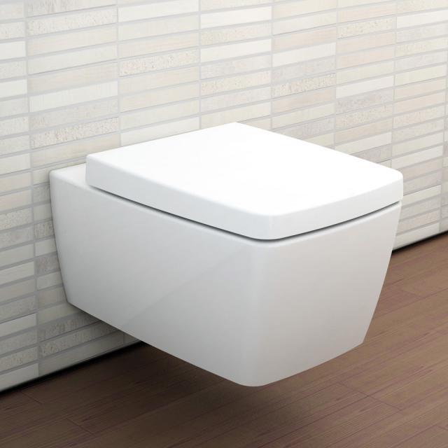 VitrA Metropole wall-mounted washdown toilet rimless, white, with VitrAclean