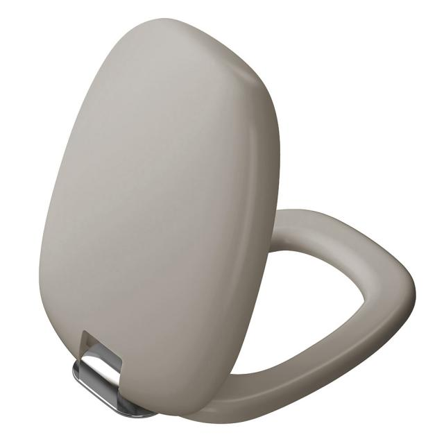 VitrA Plural toilet seat, removable with SoftClose matt taupe/chrome