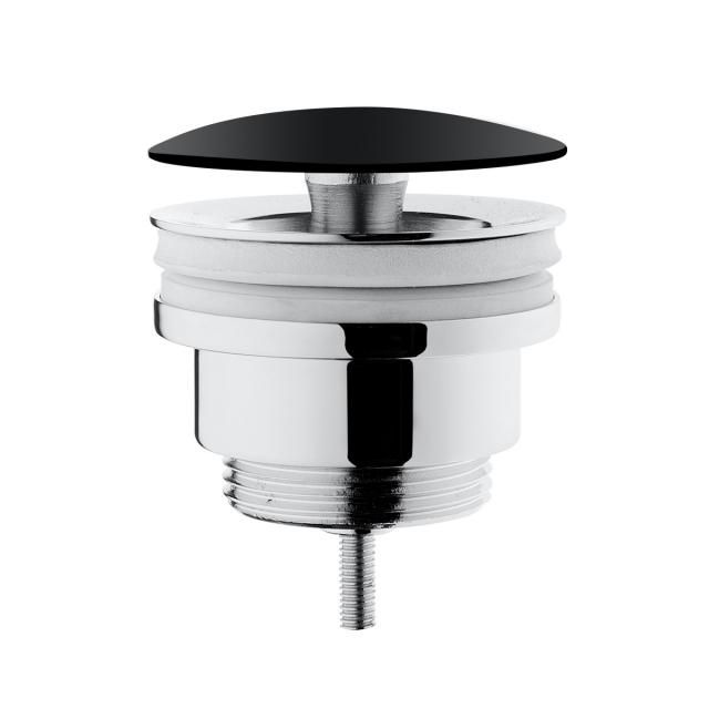 VitrA push-open valve with accumulating function, with ceramic cover matt black