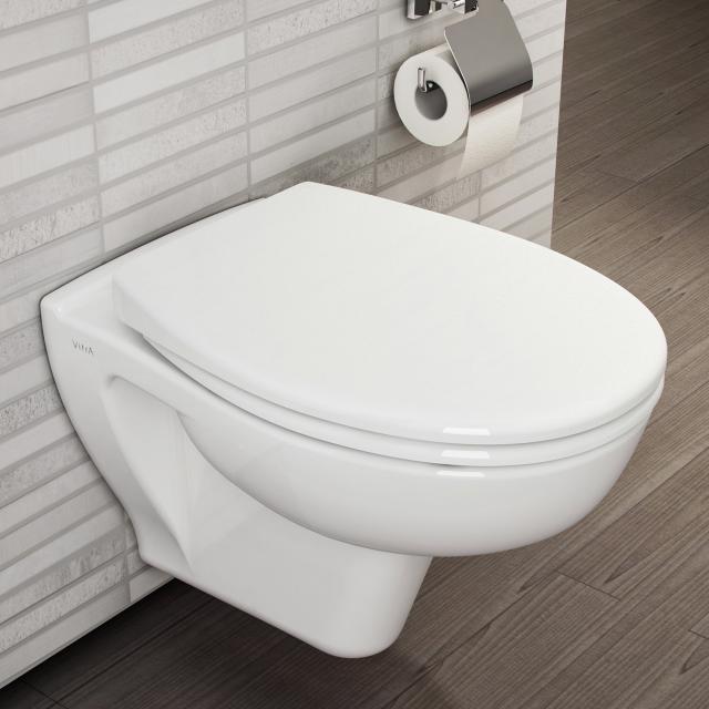 VitrA S20 wall-mounted washdown toilet VitrAflush 2.0 with bidet function white, with VitrAclean