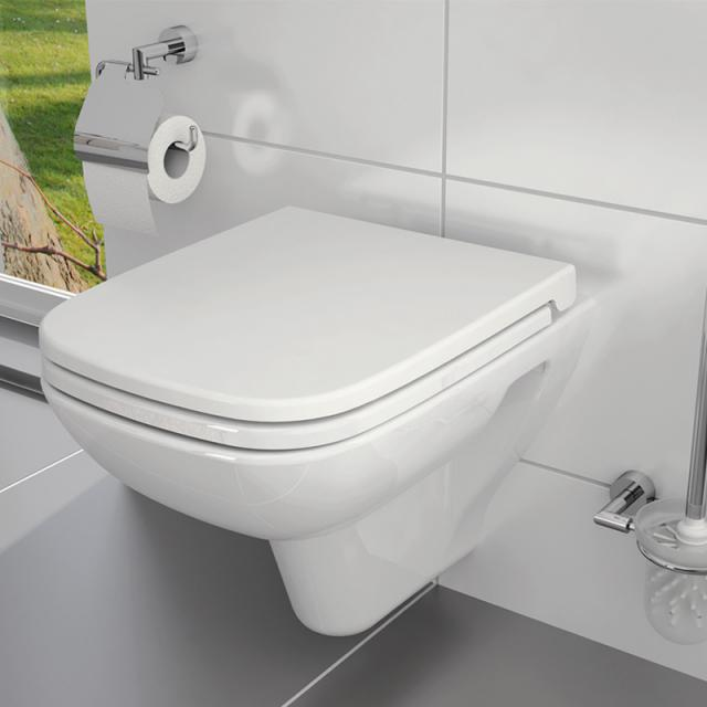 VitrA S20 wall-mounted washdown toilet with bidet function with flush rim, white