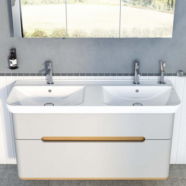 VitrA Sento double washbasin white