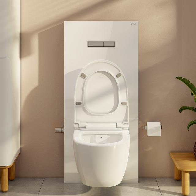 VitrA Sento wall-mounted, washdown toilet set with floorstanding cistern with bidet function white