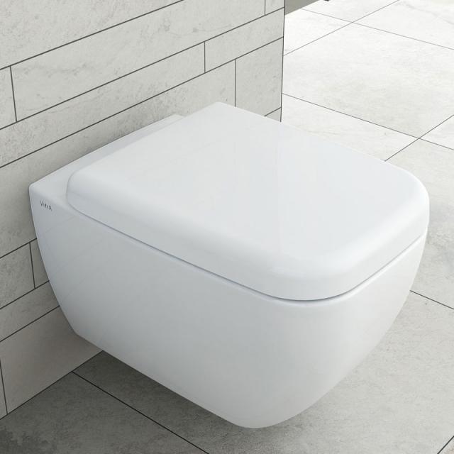 VitrA Shift wall-mounted washdown toilet VitrAflush 2.0 with bidet function white