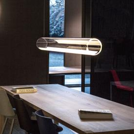 Vibia Guise LED pendant light with dimmer, horizontal