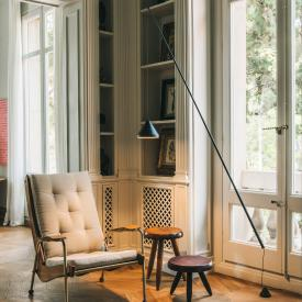 Vibia North LED floor lamp with dimmer and supply line