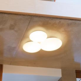 Vibia Puck LED ceiling light, 3 heads