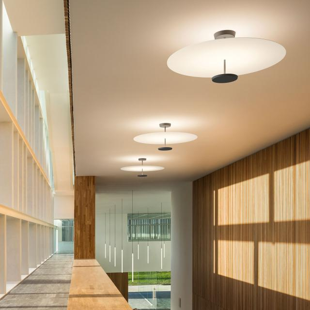 VIBIA Flat LED ceiling light with dimmer