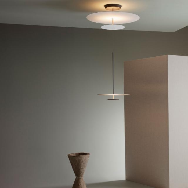 VIBIA Flat LED pendant light with dimmer, height adjustable