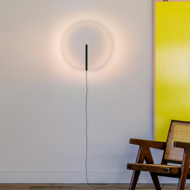 VIBIA Guise LED wall light with dimmer and supply line