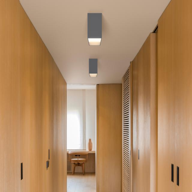 VIBIA Structural LED ceiling light 1 head, rectangular