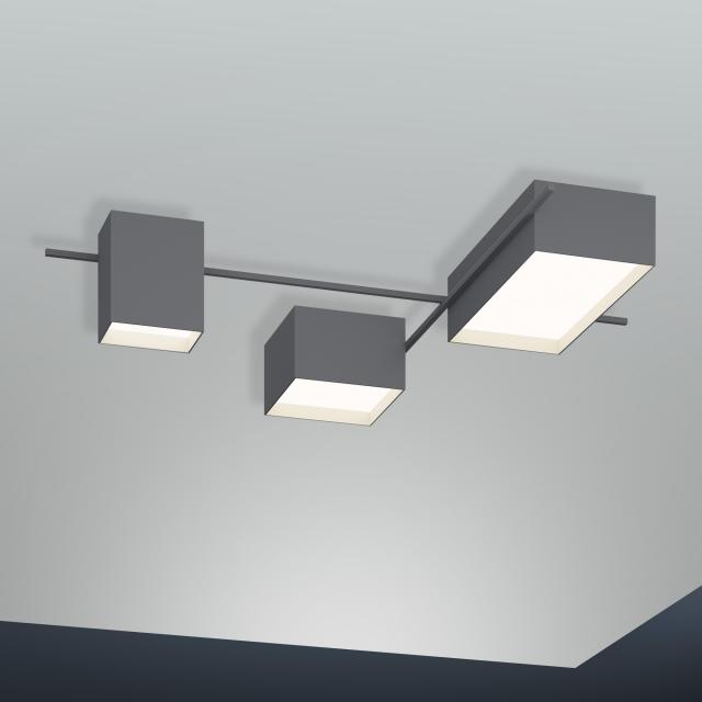 VIBIA Structural LED ceiling light 3 heads