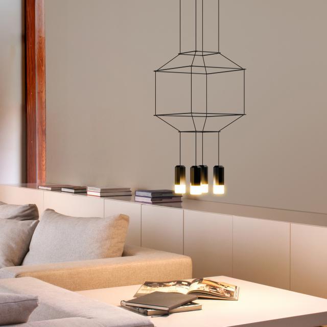 VIBIA Wireflow LED pendant light square