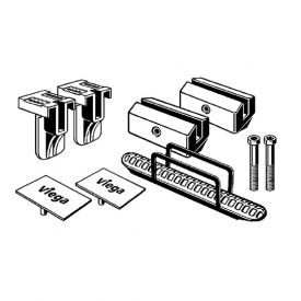 Viega Advantix Vario accessory set for Vario shower channels brushed stainless steel
