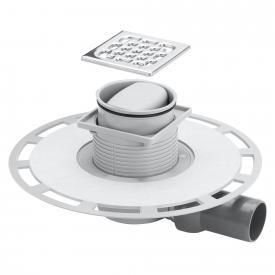 Viega Advantix bathroom drain, horizontal top with plastic frame