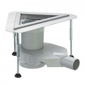 Viega Advantix corner drain DN 40/50 matt stainless steel, L: 31 W: 31 cm