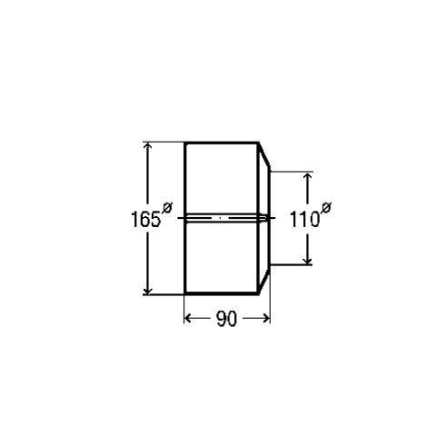 Viega 2-pce flange for toilet connection elbow and socket