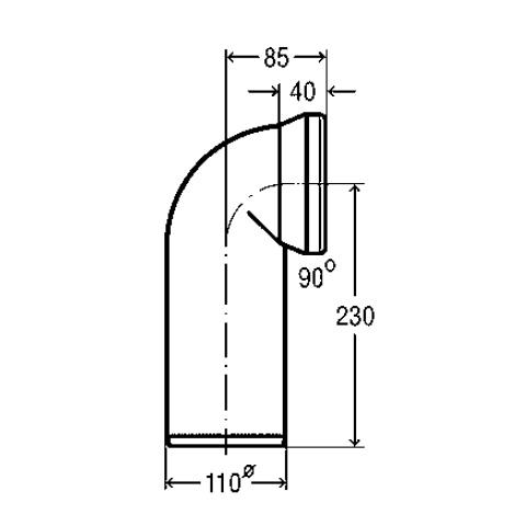 Viega toilet connection elbow 90°, white