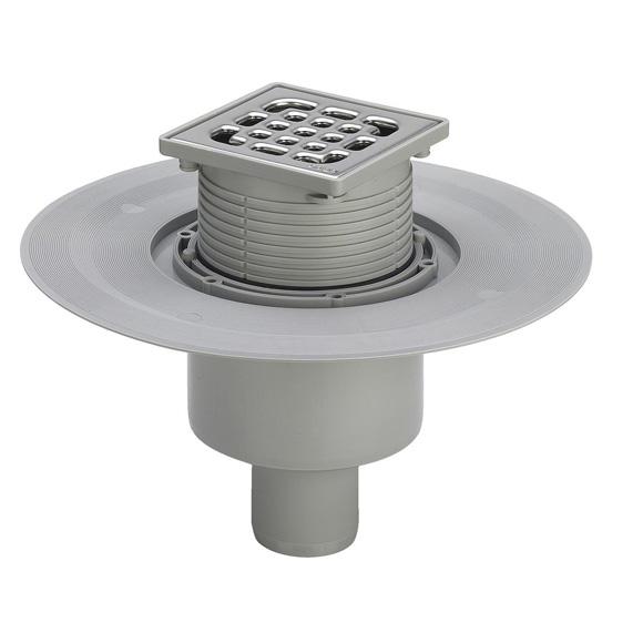 Viega Advantix bathroom drain, vertical