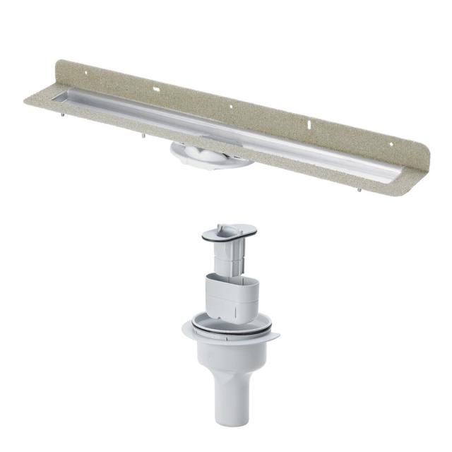 Viega Advantix shower channel set, with wall upstand vertical outlet DN 50, 66 l/min