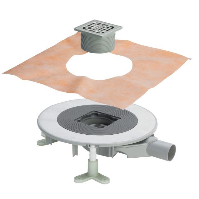 Viega Advantix Top bathroom drain, horizontal top with plastic frame