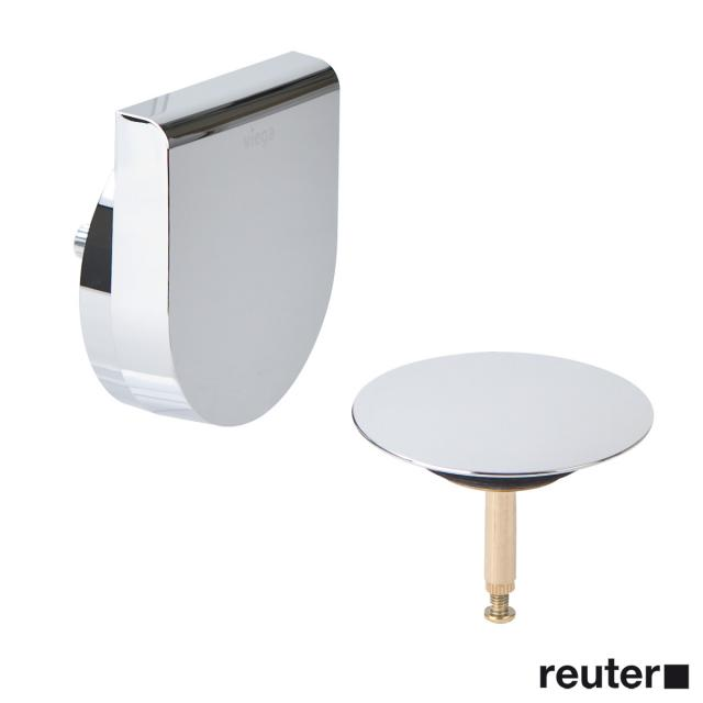 Viega Multiplex Trio complete set, with inlet for special baths with trim set Visign MT9 chrome