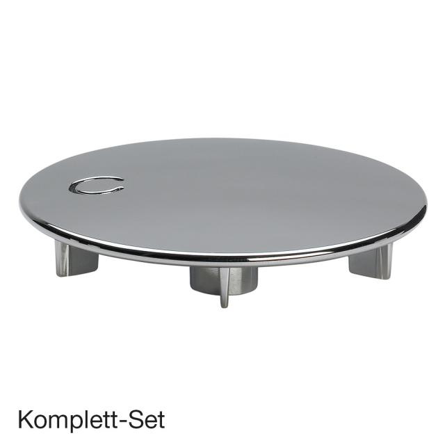 Viega Tempoplex complete set, flat for shower trays with Ø 90 mm waste, with function unit chrome