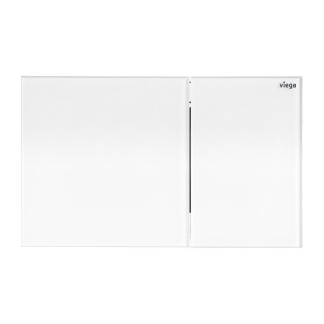 Viega Visign for More 200 toilet flush plate chrome/white, plastic/glass