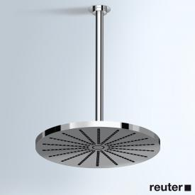 Vola 060A+200 round overhead shower, ceiling-mounted chrome