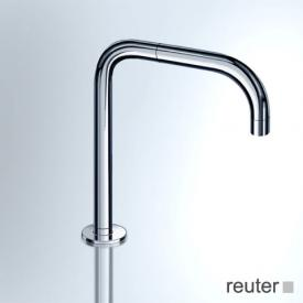 Vola 090 deck-mounted, double swivel spout, pipe diameter: 19 mm without waste set, stainless steel