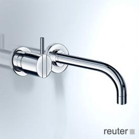 Vola 111/121 concealed single lever basin mixer, operating lever left: 25 mm projection: 160 mm, stainless steel